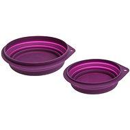 Karlie silikónová ružová - Cestovná miska pre psov a mačky