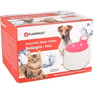 Fontána pre mačky Flamingo Automatická fontánka Bellagio ružová 2000 ml