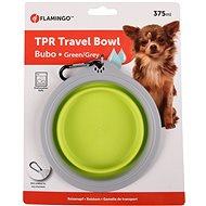 Flamingo Cestovná miska silikónová zeleno-sivá - Cestovná miska pre psov a mačky