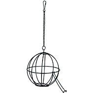 Trixie Závesná lopta na potravu kovová 12 cm