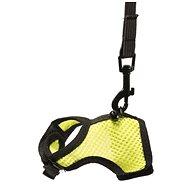 DUVO+ Vesta na prechádzky pre hlodavce S žltá 5 × 8 × 2 cm × 1 m - Postroj