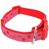 Olala Pets obojok labky 15 mm × 30–50 cm, ružový - Obojok pre psa