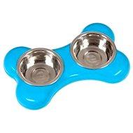 Karlie-Flamingo Miska nerez KOSŤ 2× 400 ml/36 × 22 × 8 cm/modrá - Miska pre psa