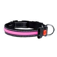 Karlie-Flamingo LED nylonový obojok ružový s USB nabíjaním, 48 cm - Obojok pre psa