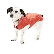 Oblečenie Raincoat Jahodové 36 cm S/M KRUUSE - Pršiplášť pre psa