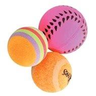 Sada loptičiek 3 ks 4 cm oranžová Zolux - Hračka pre mačky