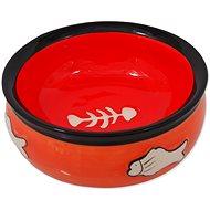 MAGIC CAT Miska keramická s rybkou oranžová 12,5 × 5 cm - Miska pre mačky