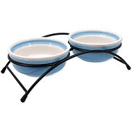 MAGIC CAT Sada misky keramické so stojančekom modré 2 × 12,5 × 5 cm - Miska pre mačky