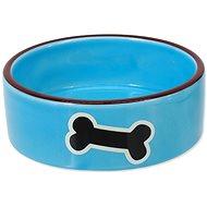 DOG FANTASY Miska keramická potlač kosť modrá 12,5 × 4,5 cm 0,29 l - Miska pre psa
