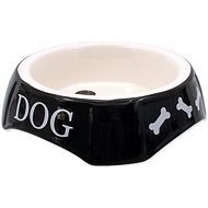 DOG FANTASY Miska potlač Dog čierna 18,5 × 5,5 cm - Miska pre psa