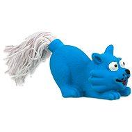 DOG FANTASY hračka latex mini mačka modrá zvuk 7 cm - Hračka pre psov
