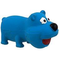 DOG FANTASY hračka latex mini medveď modrý so zvukom 9 cm - Hračka pre psov