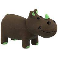 DOG FANTASY hračka latex nosorožec hnedý so zvukom 10 cm - Hračka pre psov