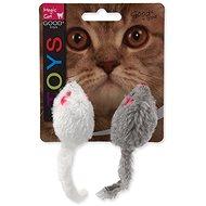 MAGIC CAT - Hračka, hrkajúce myšky s catnipom, 11 cm, 2 ks - Myš pre mačky