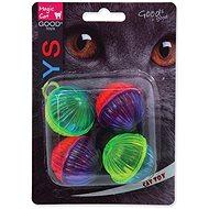 MAGIC CAT hračka loptička lesklý plast so zvukom 3,75 cm 4 ks - Loptička pre mačky