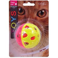MAGIC CAT hračka loptička neón jumbo s rolničkou 6 cm - Loptička pre mačky