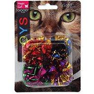 MAGIC CAT hračka loptička so strapcami lesklá 3,75 cm 4 ks - Loptička pre mačky