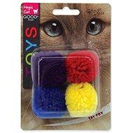 MAGIC CAT hračka loptička bavlna s catnip 3,75 cm 4 ks - Loptička pre mačky