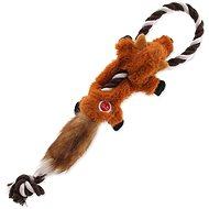 DOG FANTASY hračka skinneeez s lanom líška 35 cm - Hračka pre psov