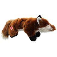 DOG FANTASY hračka plush pískacia líška čierne labky 45 cm - Hračka pre psov