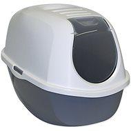 MAGIC CAT toaleta s krytom 39×53×41cm sivá - Mačací záchod
