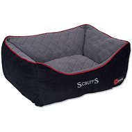 SCRUFFS thermal box bed čierny - pelech