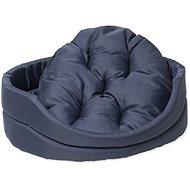 DOG FANTASY pelech ovál s vankúšom 75×66×19cm tmavo modrý - Pelech pre psa
