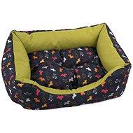 DOG FANTASY Sofa 75×65×19cm origami pes mix čierno-zelený - pelech