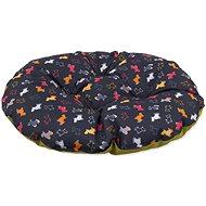 DOG FANTASY vankúš 47×40cm origami pes mix čierno-zelený - Vankúš pre psa