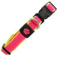 ACTIVE Obojok Fluffy reflective S ružový 2 × 28 – 40 cm - Obojok pre psa