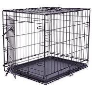DOG FANTASY klietka skladacia čierna 1 dvere - Klietka pre psa