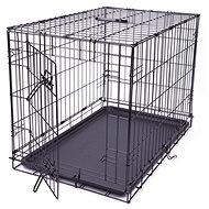 DOG FANTASY klietka skladacia M čierna 1 dvere 76×53×48cm - Klietka pre psa