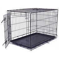 DOG FANTASY klietka skladacia L čierna 1 dvere – 91,5×63,5×58,5cm - Klietka pre psa