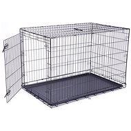 DOG FANTASY klietka skladacia XXL čierna 1 dvere – 122×84×76cm - Klietka pre psa