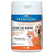 Francodex Brewer Yeast (pivovov. kvas) pes, mačka 60tab. - Doplnok stravy pre psov
