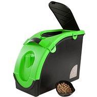 Maelson Zásobník na granule na 13 kg krmiva – čierno-zelený – 56× 24× 41 cm - Zásobník na granule