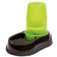 Maelson Miska na vodu so zásobníkom na 1 500 ml vody – čierno-zelená – 17 × 28 × 23 cm - Miska pre psa