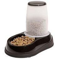 Maelson Miska na krmivo so zásobníkom na 600 g krmiva – čierno-biela – 17 × 28 × 23 cm - Miska pre psa