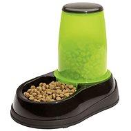 Maelson Miska na krmivo so zásobníkom na 600 g krmiva – čierno-zelená – 17 × 28 × 23 cm - Miska pre psa