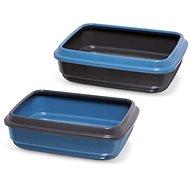 IMAC Mačací záchod z recyklovaného plastu – modrý – D 50 × Š 40 × V 14,5 cm - Mačací záchod