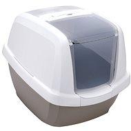IMAC Krytý mačací záchod s uhlíkovým filtrom a lopatkou – sivý – D 62 × Š 49,5 × V 47,5 cm - Mačací záchod