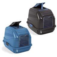IMAC Krytý mačací záchod z recyklovaného plastu s uhlíkovým filtrom a lopatkou – modrý – D 50 × Š 40 - Mačací záchod