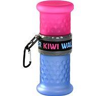 Kiwi Walker Cestovná fľaša 2in1, ružovo-modrá, 750 + 500 ml - Cestovná fľaša pre psov a mačky