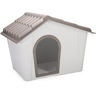 IMAC Búda pre psa plastová – sivá/hnedá – D 98,5 × Š 77,5 × V 72,5 cm - Búda pre psa