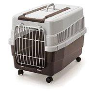IMAC Prepravka na kolieskach pre psa a mačku plastová – hnedá – D 60 × Š 40 × V 45 cm - Prepravka pre psa