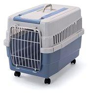 IMAC Prepravka na kolieskách pre psa a mačku plastová – modrá – D 60 × Š 40 × V 45 cm - Prepravka pre psa