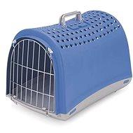 IMAC Prepravka pre psa a mačku plastová – modrá –  D 50 × Š 32 × V 34,5 cm - Prepravka pre psa
