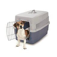 IMAC Prepravka pre psa a mačku plastová – modrá – D 60 × Š 40 × V 40 cm - Prepravka pre psa