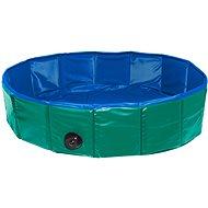 Karlie - Skladací bazén pre psy zeleno-modrý, 120 × 30 cm - Bazén pre psov