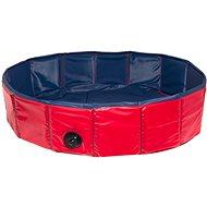 Karlie - Skladací bazén pre psov modro-červený, 120 × 30 cm - Bazén pre psov